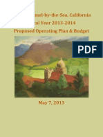 FY 2013-14 Proposed Operating Plan & Budget 05-07-13