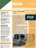 Forum newsletter April 09