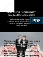 Matrimonio Homosexual y Familias Homoparentales