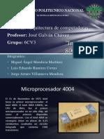Intel 4004, 8008, 8080.
