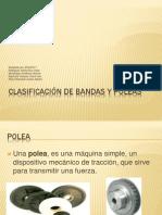 Clasificación de bandas y poleas