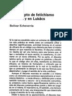 El concepto de fetichismo en marx y en Lukács