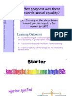 20.What Progress Was There Towards Sexual Equality
