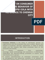 consumer buying behaviour of pepsi cola