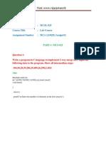 Ignou Mcsl-025 Solved Assignment 2012-13