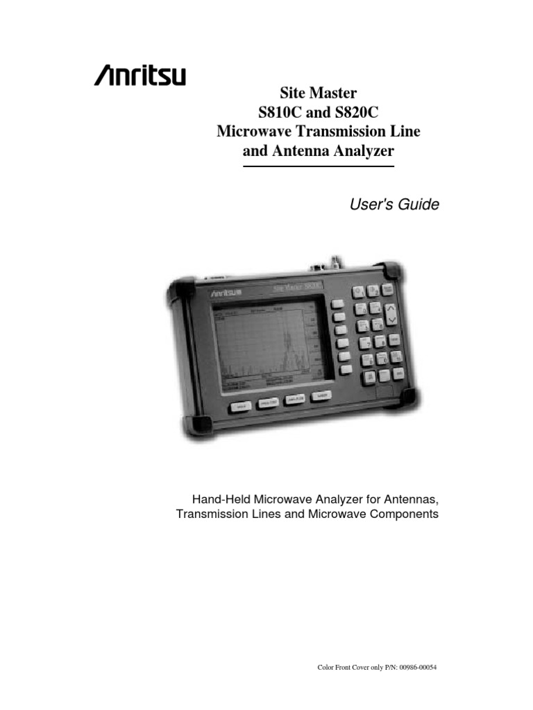 manual anritsu pdf waveguide battery charger rh scribd com Instruction Manual Example User Guide Template