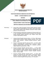 1. Peraturan Menkominfo 13 2008 Ttg Standar QoS Jaringan FWA