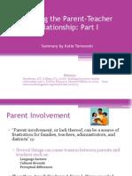 Building the Parent-teacher Relationship