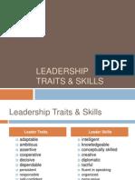 Leadership Traits Skills
