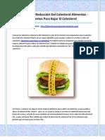 Alimentos Para Bajar El Colesterol
