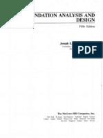 Foundation Analysis and Design 5th Edition Joseph E. Bowles