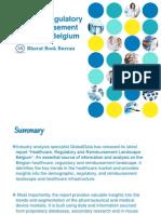 Healthcare, Regulatory and Reimbursement Landscape - Belgium 1