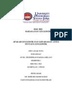 BML 3022 Bahasa & Linguistik Melayu
