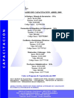 Programa de Capacitación Abril de 2009
