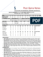 05.01.13 Post-Game Notes