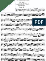 Bach Double Concerto in Dm for 2 Violins Violin2