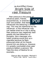 cause and effect essay on peer pressure