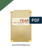 One Year Goal Setting Worksheet