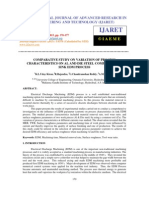 Comparative Study on Variation of Process Characteristics on Al and Die Steel Process