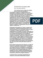 Decreto de Fernando VII de 1 de Octubre de 1823
