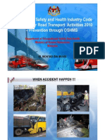 Occupational Safety and Health Industry Code of Practice for Road Transport Activities 2010