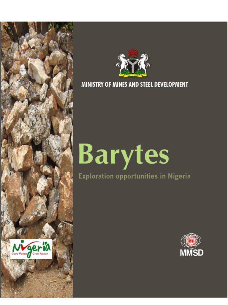 Barytes Exploration Opportunity in Nigeria | Mining | Rock (Geology)