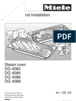 Miele Steam Oven DG4084, DG 4086 Instructions