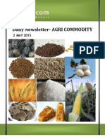 Agri Daily Report 2 May 2013
