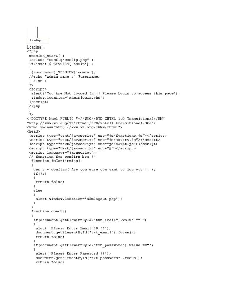 admemail | Java Script | World Wide Web Consortium Standards