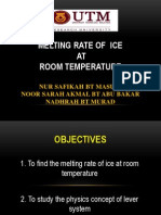 melting of ice at room temperature