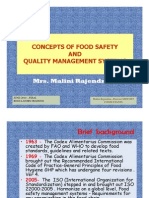 Concepts of Food Safety and QMS