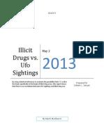 Illicit Drugs vs. UFO Sightings