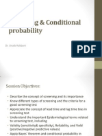 Screening and Conditional Probability