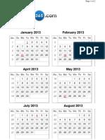 2013 Calendar ( Week)