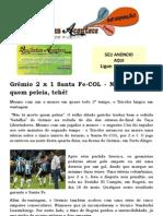 Libertadores Em casa Grêmio 2 x 1 Santa Fe-COL