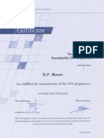 2003 06 TUe Technology for Sustainable Development certificate