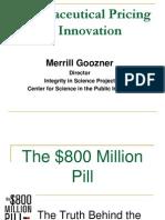 Big Pharma Pricing and Innovation