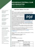 2013 Newsletters Week 3