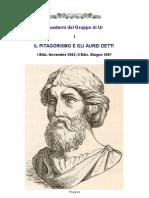1 - Il Pitagorismo e Gli Aurei Detti
