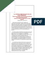 DECLARACIÓN DE LA UNIVERSIDAD AUSTRAL