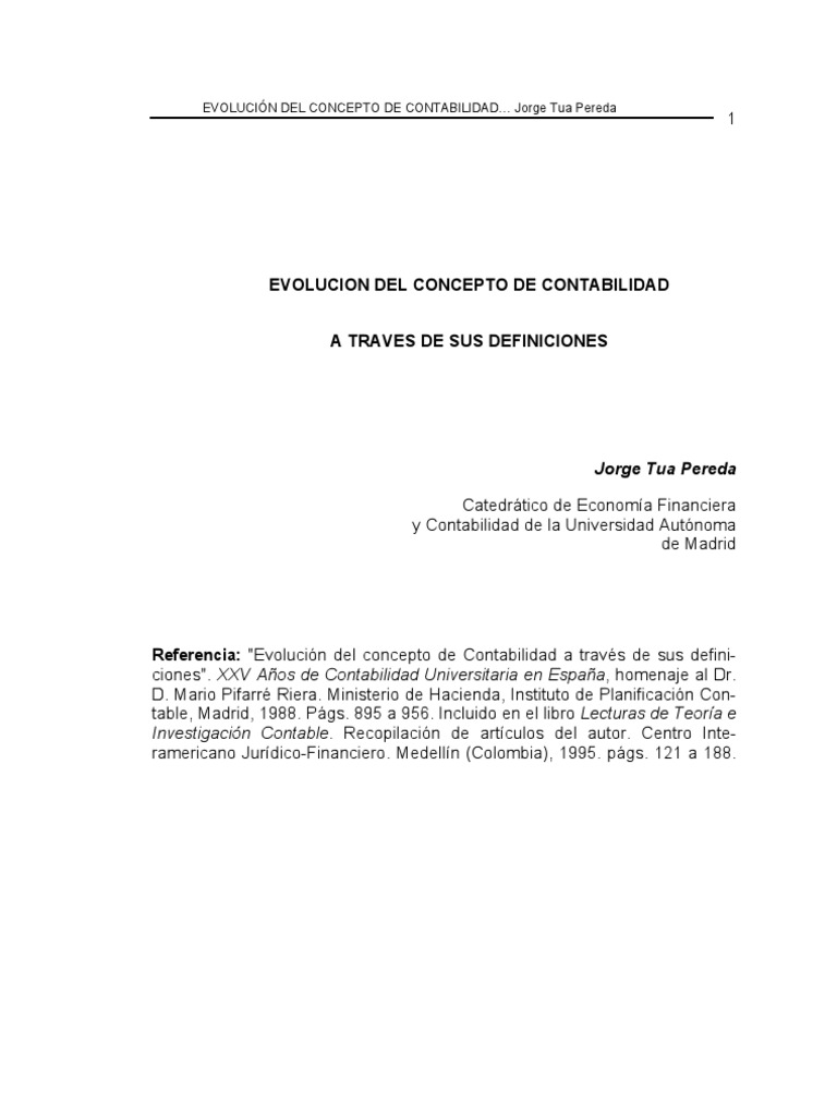 Evolucion Historica Del Concepto de Contabilidad JORGE TUA PEREDA