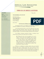 Letter Of Retraction of Offensive Statements