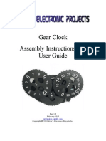 Gear Clock Manual