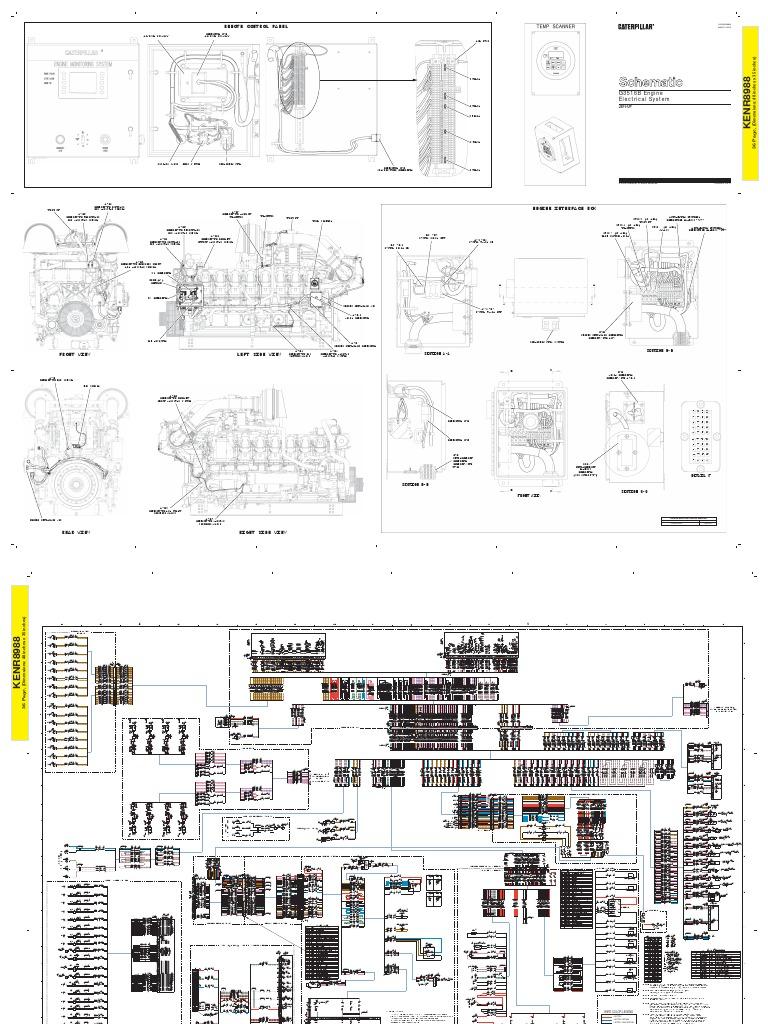 3516 Caterpillar Wiring Diagrams Data Diagram Gas Engine Schematic Rh Scribd Com 2006 Arctic Cat 400 2004