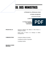Compte-rendu du Conseil des ministres du 21 novembre 2012
