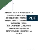Rapport de M. Hubert VEDRINE