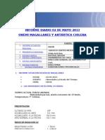 Informe Diario Onemi Magallanes 02.05.2013