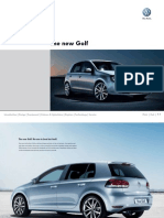 Golf VI UK Brochure - VW Golf Mk6