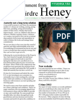 Deirdre Heney Newsletter Summer 2013