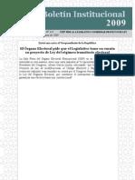 OEP PIDE AL LEGISLATIVO CONSIDERAR PROYECTO DE LEY